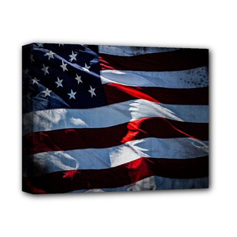Grunge American Flag Deluxe Canvas 14  X 11  (stretched)