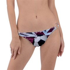 Soccer Ball With Great Britain Flag Ring Detail Bikini Bottom