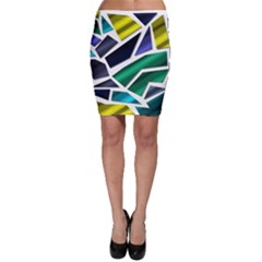 Mosaic Shapes Bodycon Skirt