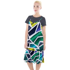 Mosaic Shapes Camis Fishtail Dress by Vaneshart