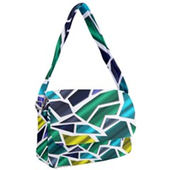 Mosaic Shapes Courier Bag