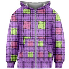Background Pattern Seamless Kids  Zipper Hoodie Without Drawstring by Vaneshart