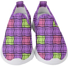 Background Pattern Seamless Kids  Slip On Sneakers