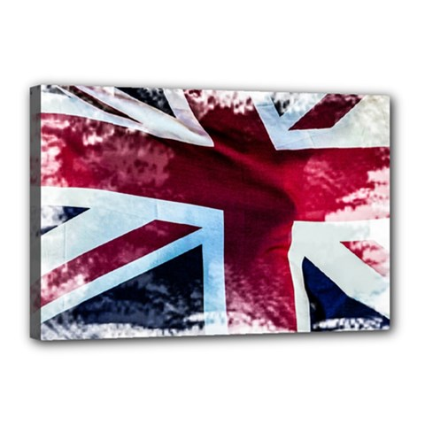 The British Flag Canvas 18  X 12  (stretched)