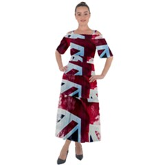 The British Flag Shoulder Straps Boho Maxi Dress