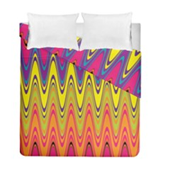 Retro Colorful Waves Background Duvet Cover Double Side (full/ Double Size)