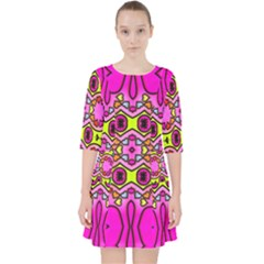Abstract Background Pattern Pocket Dress
