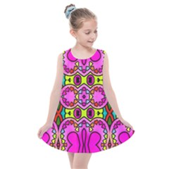 Abstract Background Pattern Kids  Summer Dress