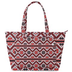 Folklore Ethnic Pattern Background Back Pocket Shoulder Bag  by Vaneshart
