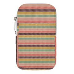 Vintage Stripes Lines Background Waist Pouch (small)