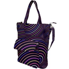 Abtract Colorful Spheres Shoulder Tote Bag