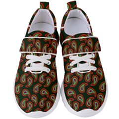 Seamless Paisley Pattern Women s Velcro Strap Shoes by Vaneshart