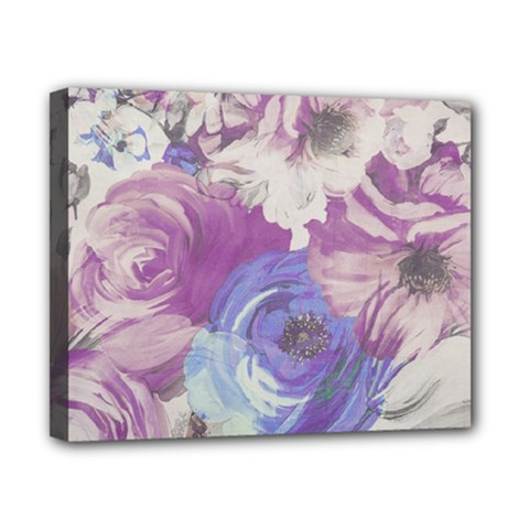 Floral Vintage Wallpaper Pattern Canvas 10  X 8  (stretched)