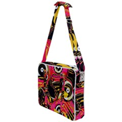 Abstract Clutter Cross Body Office Bag