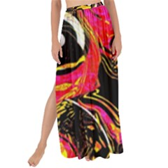 Abstract Clutter Maxi Chiffon Tie Up Sarong