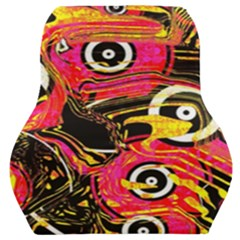 Abstract Clutter Car Seat Back Cushion
