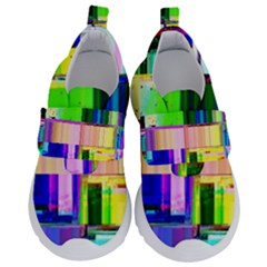 Glitch Art Abstract Kids  Velcro No Lace Shoes