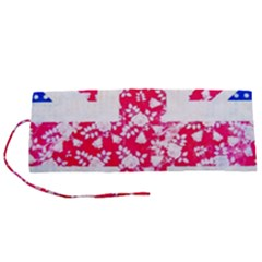 British Flag Abstract Roll Up Canvas Pencil Holder (s)