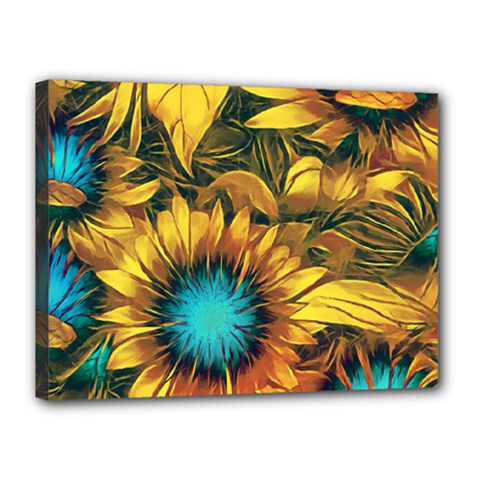 Floral Pattern Background Canvas 16  X 12  (stretched)