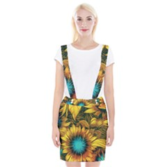 Floral Pattern Background Braces Suspender Skirt