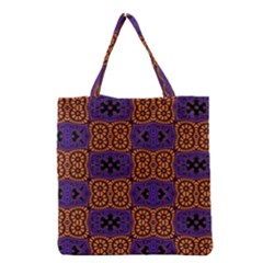 Abstract Clutter Pattern Vintage Grocery Tote Bag by Vaneshart