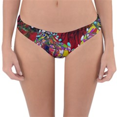 Seamless Abstract Background Red Reversible Hipster Bikini Bottoms