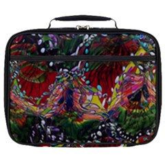 Seamless Abstract Background Red Full Print Lunch Bag