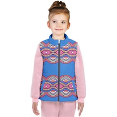 Shapes Chains On A Blue Background                                             Kid s Puffer Vest