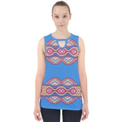 Shapes Chains On A Blue Background                                              Cut Out Tank Top by LalyLauraFLM