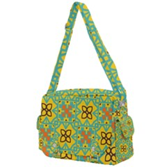 Flowers In Squares Pattern                                            Buckle Multifunction Bag by LalyLauraFLM