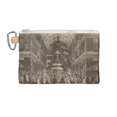 Illustrated Exhibitor Canvas Cosmetic Bag (medium) by DeneWestUK