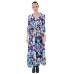 Abstract 22 Button Up Maxi Dress