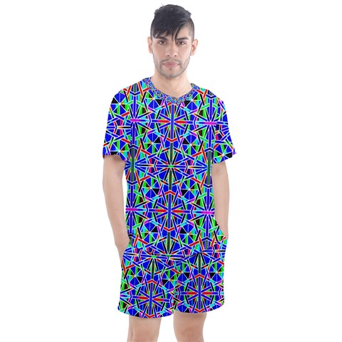 Abstract 24 1 Men s Mesh Tee And Shorts Set by ArtworkByPatrick