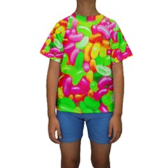 Vibrant Jelly Bean Candy Kids  Short Sleeve Swimwear by essentialimage