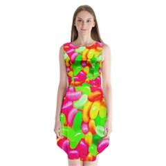 Vibrant Jelly Bean Candy Sleeveless Chiffon Dress   by essentialimage