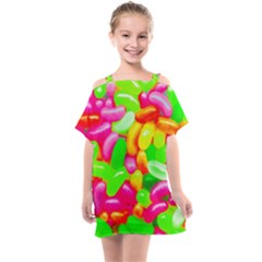 Vibrant Jelly Bean Candy Kids  One Piece Chiffon Dress by essentialimage