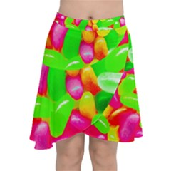 Vibrant Jelly Bean Candy Chiffon Wrap Front Skirt by essentialimage
