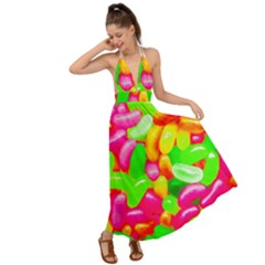Vibrant Jelly Bean Candy Backless Maxi Beach Dress by essentialimage