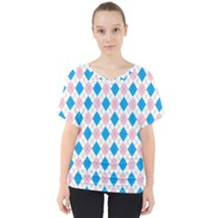 Argyle 316838 960 720 V-neck Dolman Drape Top by vintage2030