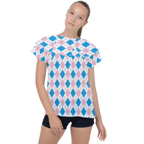 Argyle 316838 960 720 Ruffle Collar Chiffon Blouse by vintage2030