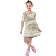 Vintage 979490 1280 Kids  Long Sleeve Velvet Dress