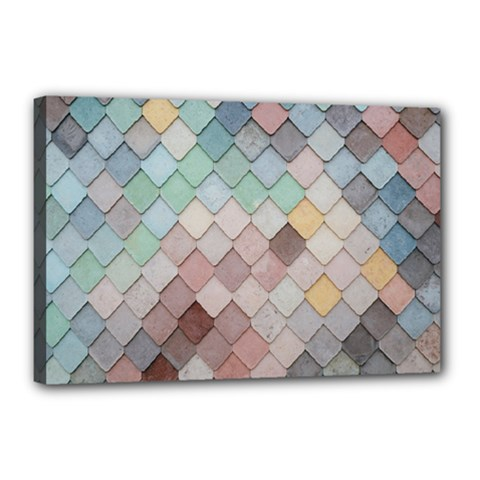 Tiles Shapes 2617112 960 720 Canvas 18  X 12  (stretched) by vintage2030