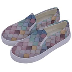 Tiles Shapes 2617112 960 720 Kids  Canvas Slip Ons by vintage2030