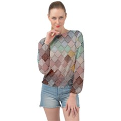 Tiles Shapes 2617112 960 720 Banded Bottom Chiffon Top by vintage2030
