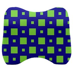 Squares Grid Seamless Velour Head Support Cushion