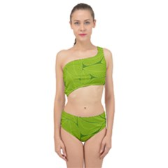 Pattern Leaves Walnut Nature Spliced Up Two Piece Swimsuit by Vaneshart