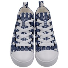 Seahorse Shell Pattern Kids  Mid-top Canvas Sneakers