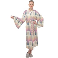 Seamless Pattern Background Entrance Maxi Velour Kimono