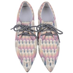 Seamless Pattern Background Entrance Women s Pointed Oxford Shoes