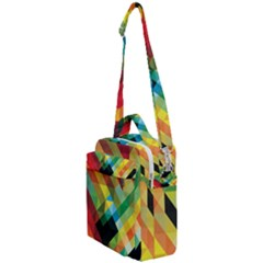 Pattern Colorful Geometry Abstract Wallpaper Crossbody Day Bag